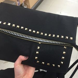 Black jeweled crossbody
